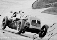 BENTLEY MARKER Race car photo. R Marker at Brooklands 1935(printed autograph)